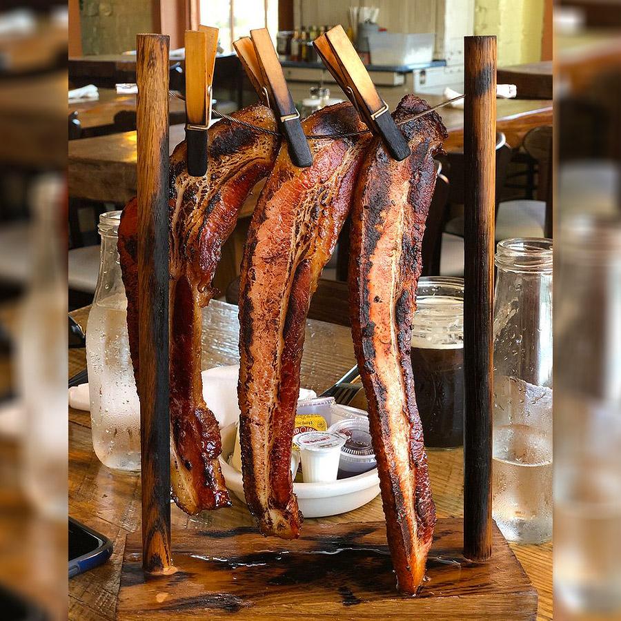 Clothesline Bacon