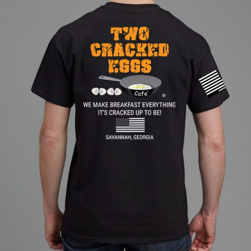 Back View of Two Cracked Eggs Cafe.