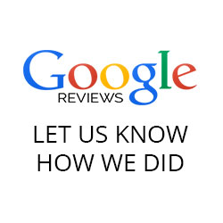 Leave a Review on Google, let us know how we did.